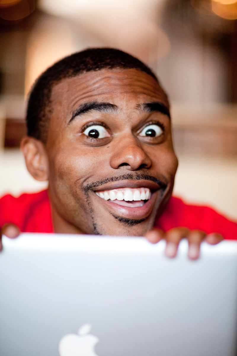 Lil Duval with Laptop